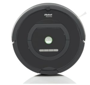 closeup shot of the irobot roomba 770 vacuum